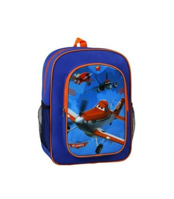 Mochila Grande Planes azul y naranja