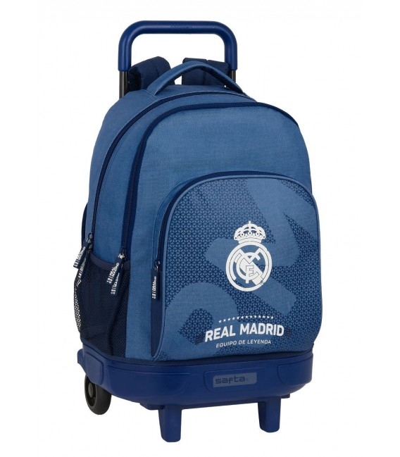 Mochila Grande C/Ruedas Compact Extraible Real Madrid Corporativa