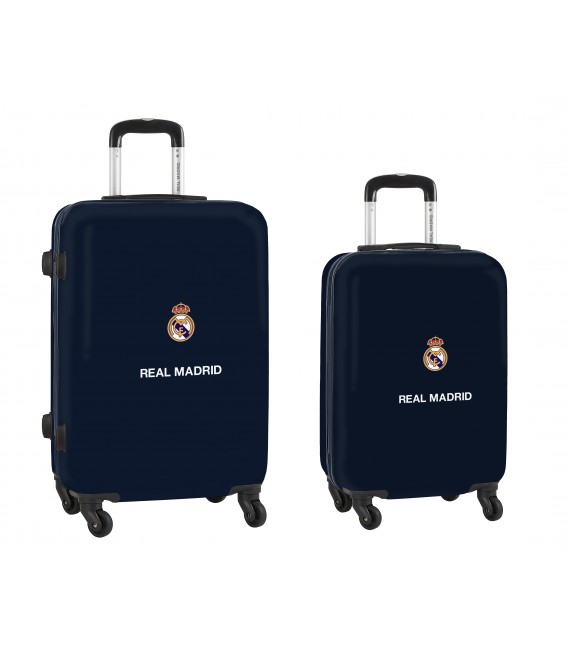 "SET 2 TROLLEYS CABINA 20""+ MEDIANO 24"" REAL MADRID"