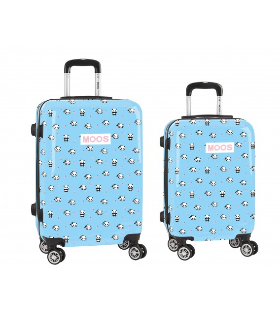 "SET 2 TROLLEYS CABINA 20""+ MEDIANO 24"" MOOS ""PANDA"""