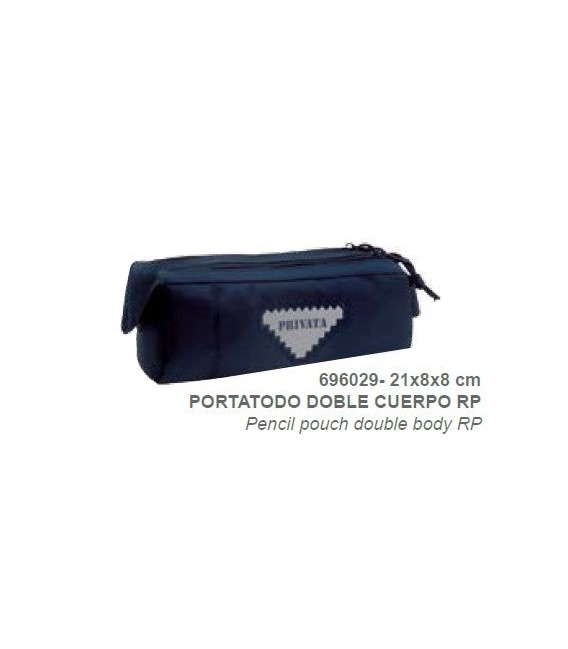 Portatodo doble Privata Premium azul