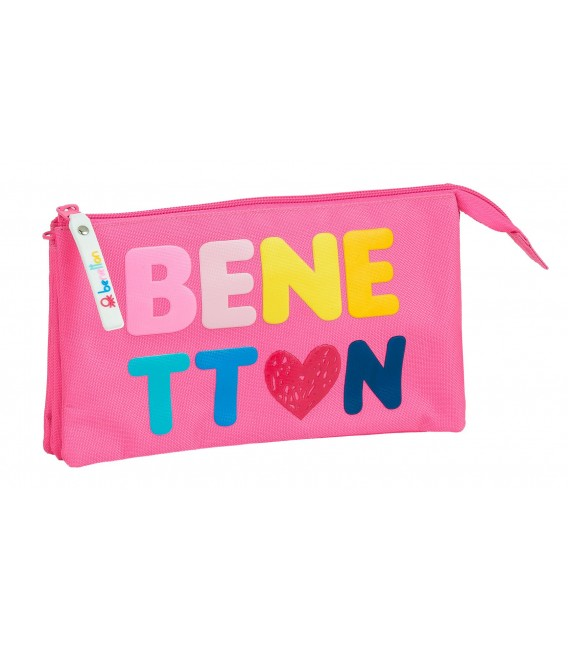 "PORTATODO TRIPLE BENETTON ""HEART"""