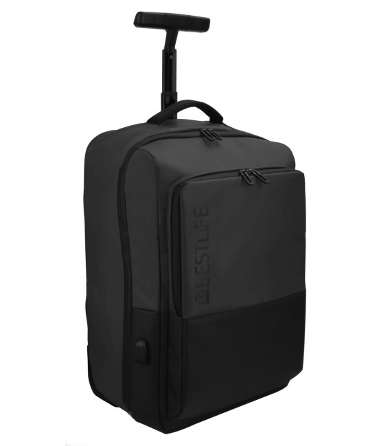 TROLLEY PORTAT 15,6''+TABLET+USB BESTLIFE NEOTON BLACK