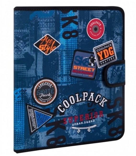 Carpeta De Tela Mate Badges B Blue Coolpack