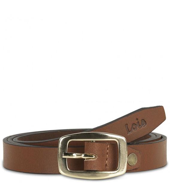 Cinturon Piel Genuina 20Mm  Lois Cinturones T-40/42 Marrón/Oro
