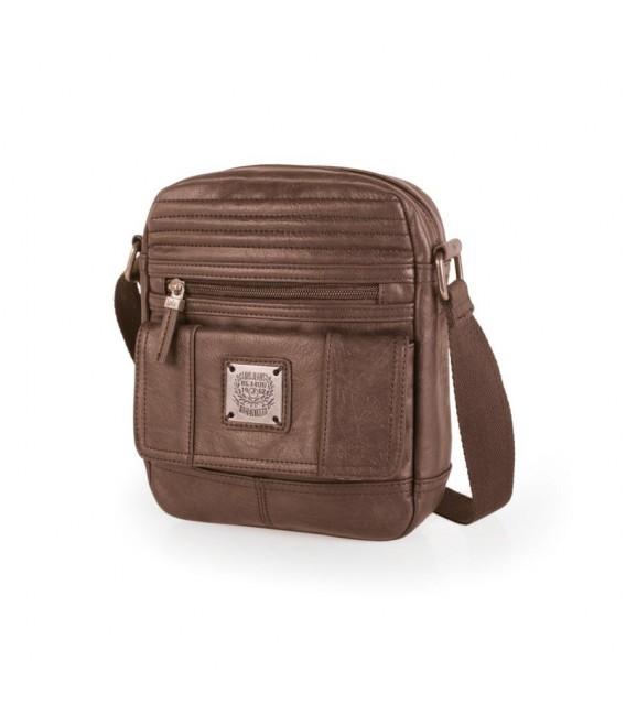 Bolso Hombre Media Solapa lois new leged Marrón